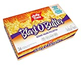 Jolly Time Blast O Butter Ultimate Movie Theatre Microwave Popcorn, Bulk 24-Count Box, 76.8 Oz