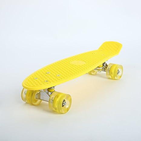 Rosepoem Skateboard Completo con Luces LED de Colores hasta Ruedas para Principiantes