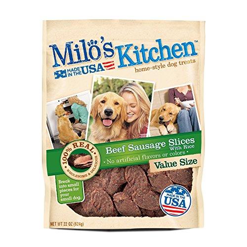 (Milo'S Kitchen Beef Sausage Slices With Rice 22 Oz.)