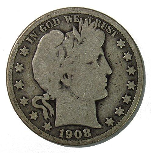 1908 O Silver Barber Half Dollar 50c Very Good