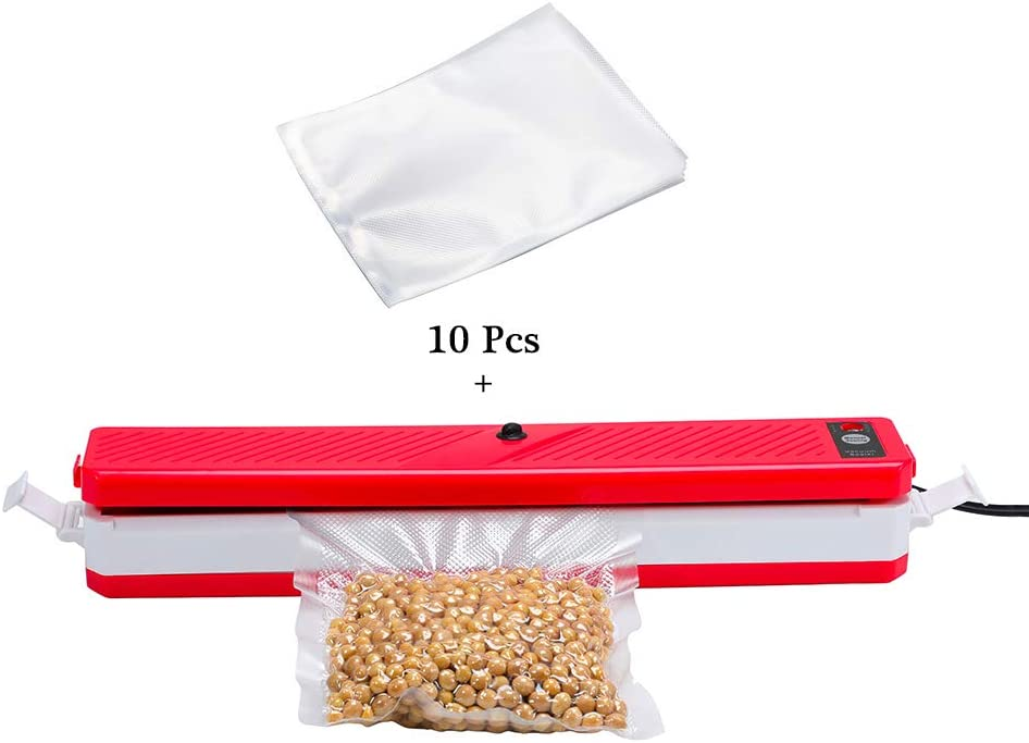 100pcs 8x12 Inch Vac Seal a Meal Bags +Vacuum Sealer,One-button Automatic Freezer Sealer Machine