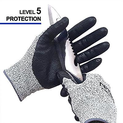NiTex CUT5 EN388 Certified Level 5 Cut Resistant Work Gloves for Gardening Builders Mechanic Multi-Purpose