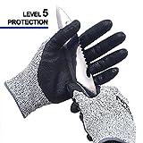 NiTex CUT5-L5 EN388 Certified Level 5 Cut Resistant Work Gloves for Gardening Builders Mechanic Multi-Purpose (L, 5 Pairs)