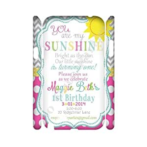 Custom 3D Case for samsung galaxy note2 n7100 w/ you are my sunshine image at Hmh-xase (style 3)