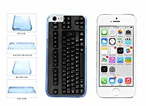 Funny All Black Keyboard Clear Plastic Phone Case Back Cover Apple iPhone 6 (4.7 inches screen) comes with Security Tag and MyPhone Designs(TM) Cleaning Cloth