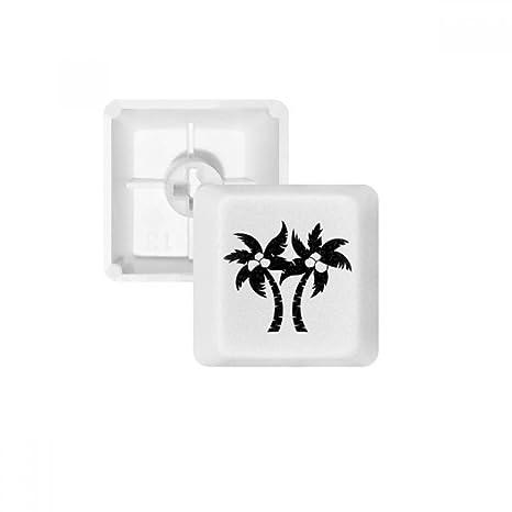 DIYthinker Árbol de Coco Negro Planta Silueta PBT Nombres de Teclas de Teclado mecánico Blanca OEM