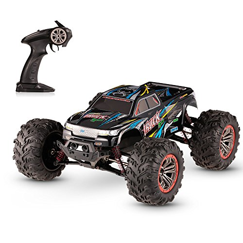 FMT 1:10 Scale High Speed 46km/h 4WD 2.4Ghz Remote Control Truck 9125, Radio Controlled Off-Road RC Car Monster Truck R/C RTR (Assorted Colors)