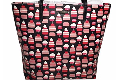 Kate Spade Cupcake Take the Cake Tote Bag Bon Shopper Coated Canvas (Front Pocket Tall Tote Handbag)