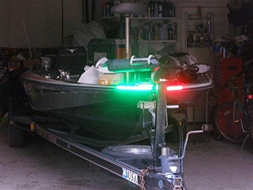 LED Red & Green Navigation Boat Light Strips Kit Rub Rail Waterproof for Bass Boats, Pontoons, Wave Runners, Kayaks, Ski Boats for Fresh and Saltwater by Green Blob Outdoors