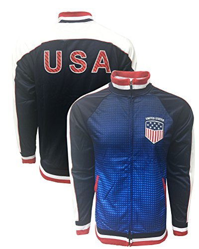 - USA Jacket, for Kids and Adults, a Track Soccer Jacket , All Youth and Adult Sizes (Small)