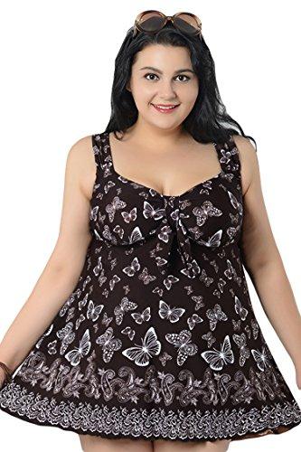 Pink Queen Plus Size Swimwear One-piece Swimsuit Skirt Swimdress Butterfly 10XL