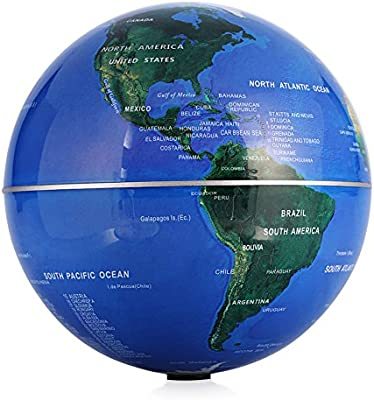 amazon com self rotating globe 6 auto spinning rotary globe