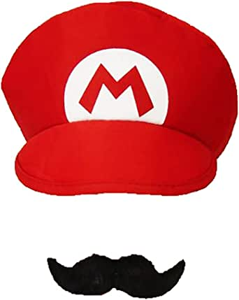 Super Mario Luigi Brothers Adult Mens Womens Kids Cap Costume Hat Moustache