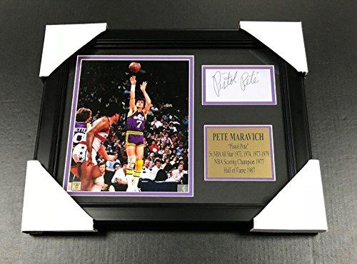 Autographed Pete Maravich Photo - Cut Facsimile Reprint Framed 8x10 - Autographed NBA (Pete Maravich Nba)