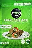 Raw Organic Veggie Life Veggie Wraps | Wheat-Free, Gluten Free, Paleo Wraps, Non-GMO, Vegan Friendly Made in the USA (8 Pack)