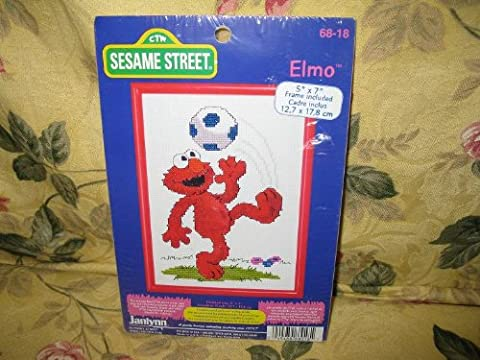 Janlynn Sesame Street Elmo Soccer Counted Cross Stitch Kit 68-18 (Sesame Street Cross Stitch)