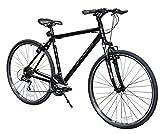 XDS Men's Cross 300 24-Speed Hybrid Bicycle, 52cm, Jet Black