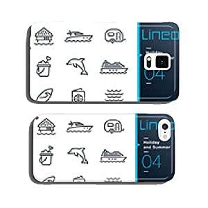 Lineo - Holiday and Summer outline icons cell phone cover case Samsung S5