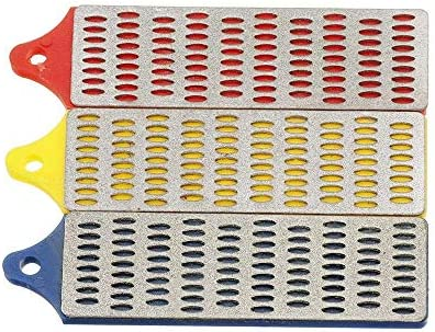 ZGQA-GQA シャープダイヤモンド研磨砥石セットの工業用研磨剤3枚1×3インチ180/260/360グリットシャープストーン