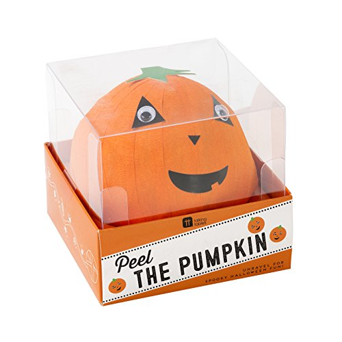 Talking Tables Boxed WONDERBALL FACE Games Pass The Parcel | Pumpkin Wonder Ball with Mini Treasures Inside | for Halloween Party, 10M