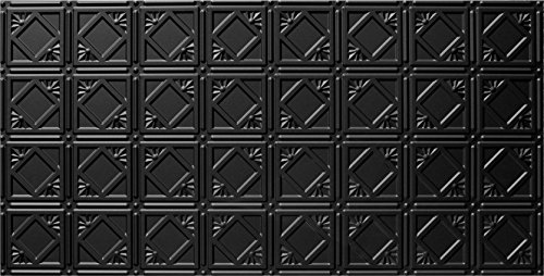 Global Specialty Products Pattern No207 Tin Style Panel 2 by 4-Feet Black