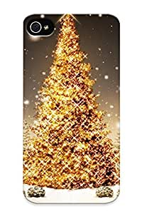Ellent Iphone 4/4s Case Tpu Cover Back Skin Protector Christmas Tree For Lovers
