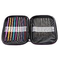 Zxuy 22pcs Mixed Aluminum Handle Crochet Hook Knitting Knit Needle Weave Yarn Set