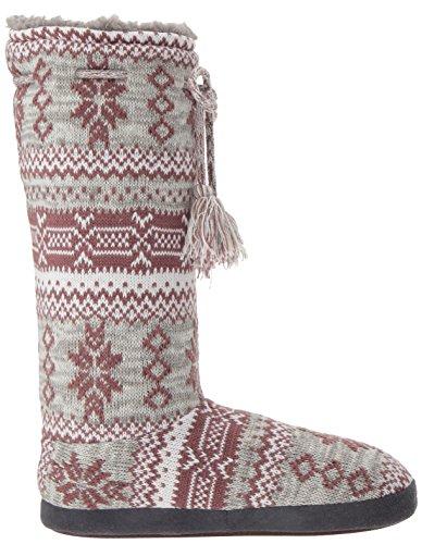 Muk Luks Womens Tall Fleece-Lined Slipper Boot Marled Rustic Lodge SKje0sHM