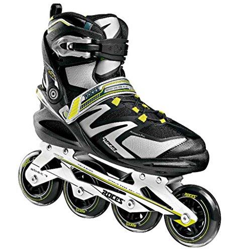 Roces Men's Skin Inline Skates, Black/Silver/Yellow, US 8