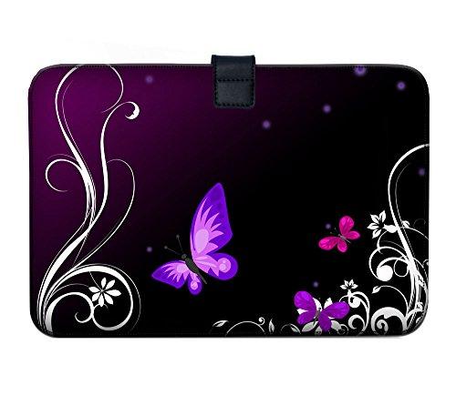 Luxburg Super Slim Sleeve Soft Case Bag for 13-13.3 inch Apple MacBook/Air/Pro/Retina/PowerBook G3/G4/iBook - Butterflies Artwork
