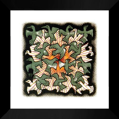 (Sun and Moon 20x20 Framed Art Print by M.C. Escher)