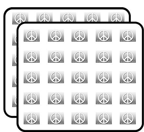 White Peace Sign Symbol (Logo Vinyl) Sticker for Scrapbooking, Calendars, Arts, Kids DIY Crafts, Album, Bullet - Stickers Symbol Round Peace