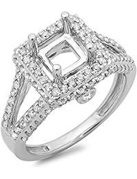 0.95 Carat (ctw) 14K Gold Round Diamond Ladies Split Shank Bridal Semi Mount Engagement Ring 1 CT