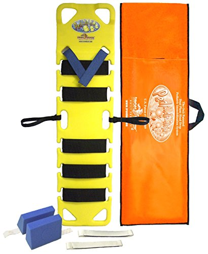 Iron Duck 35840-Yellow Pedi Air Align Complete Pediatric Spinal Immobilization Backboard with Patented Dual Plane Head Drop System, Includes Straps, Head Blocks and Carry Case (Drop Complete Head)