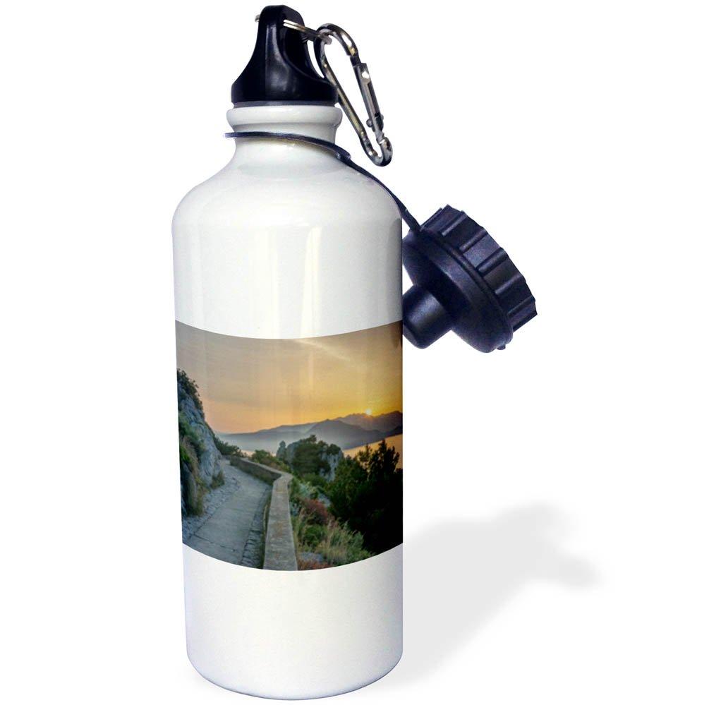 3dRose Danita Delimont - Sunrises - Italy, Isle of Capri, sunrise Over the Sorrento Peninsula - 21 oz Sports Water Bottle (wb_277660_1)