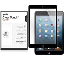 iPad mini 1st Gen Screen Protector, BoxWave® [ClearTouch Ultra Anti-Glare] Bubble Free Screen Guard w/ Colored Border for Apple iPad mini 1st Gen, 3, Retina - White