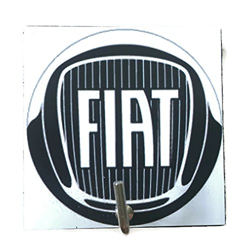 Agility Bathroom Wall Hanger Hat Bag Key Adhesive Wood Hook Vintage Fiat Car Logo S Photo