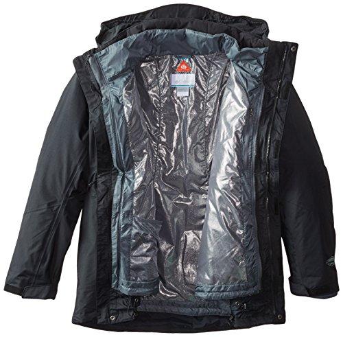 Michigan Mens Track Jacket - Columbia Men's Lhotse II Interchange Jacket, Black/Graphite, 3X