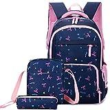 Girls School Bags Set Orthopedic Princess Schoolbags Children Backpack Girl Primary Bookbag deep blue
