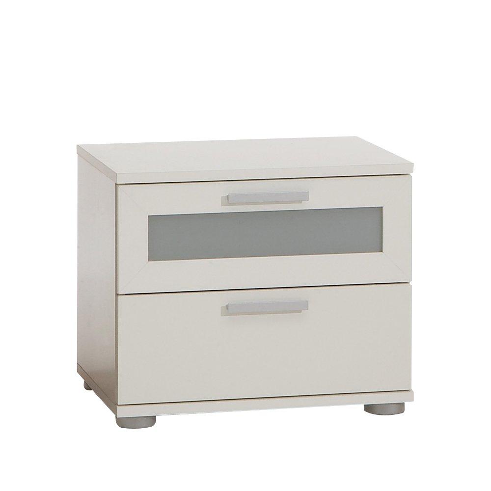 FMD Bedside Cabinet Jack 1, 45.0 x 37.0 x 38.0 cm, White FMD Möbel 616-001_we F00651602010_WHITE