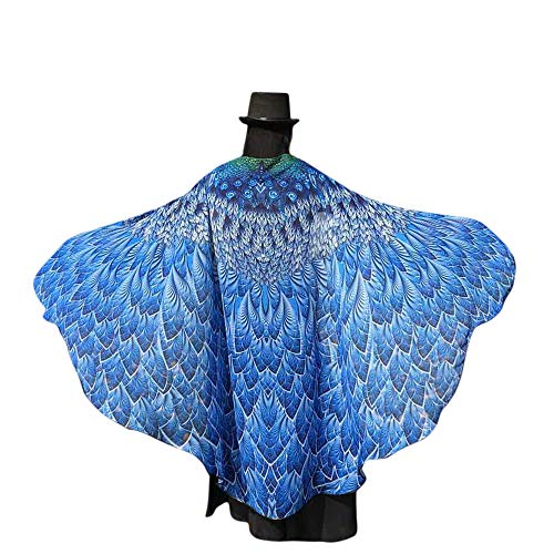 (VEFSU Soft Fabric for Butterfly Wings Shawl Fairy Ladies Nymph Pixie Costume Accessory)