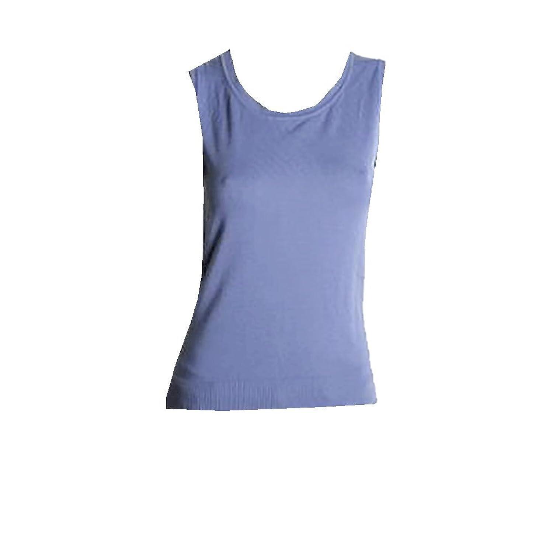 August Silk Womens Sleeveless Pullover Sweater Top