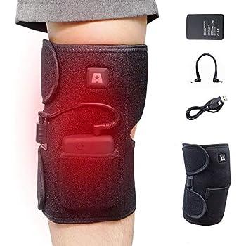 Amazon.com: Heated Knee Brace Wrap Support/Therapeutic ...