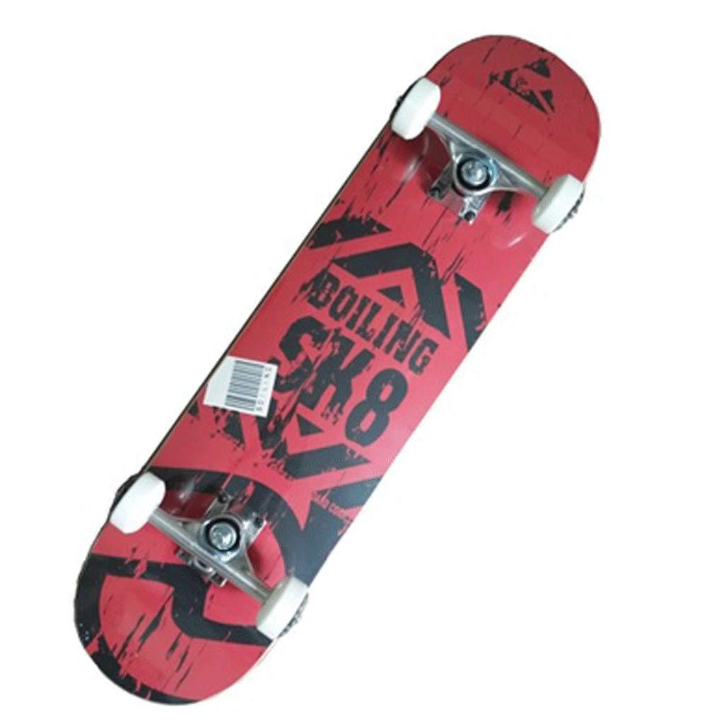 スキルバイラテラルスロープボードスケートボードストリートトラベルショートボード初心者スケートボード4輪アダルトスケートボード red (色 : 白) B07KM41ZHN Dark 白) B07KM41ZHN red Dark red, STファニチャー:cc72a229 --- grupocmq.com