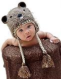 Huggalugs Boys or Girls Bucky Beaver Beanie Hat Large (2-6yr) Brown