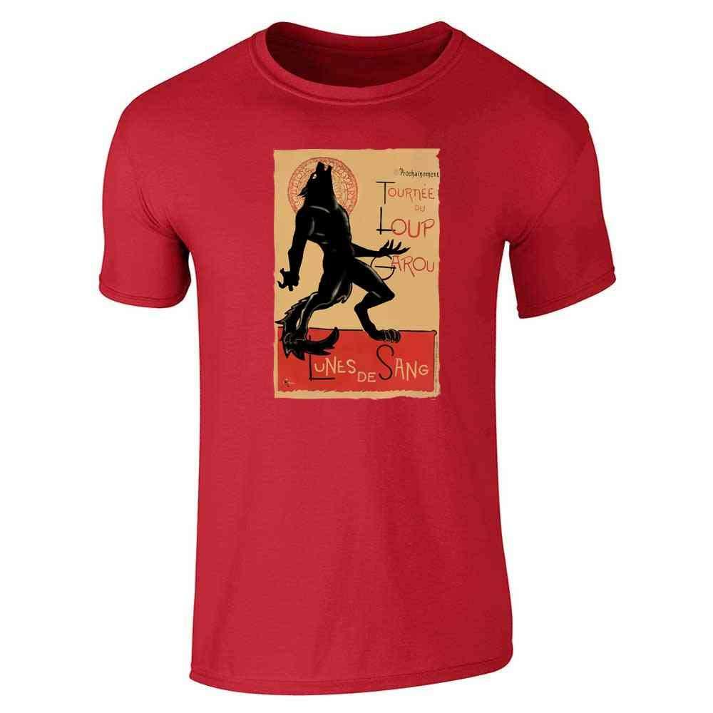 Loup Garou Noir Werewolf Chat Noir Parody Short Sleeve 1673 Shirts