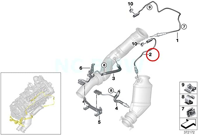 Genuine BMW E84 E89 F07N F10 Lambda Probe Oxygen Sensor540MM OEM 11787589122