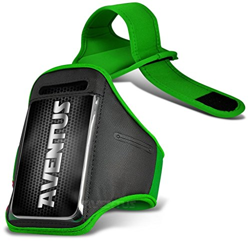 Aventus Sony Xperia Z3 (Hot Pink) Voll einstellbare Leicht Hulle Armband-Halter-Kasten-Abdeckung Running, Walking, Radfahren, Fitnessraum und andere Sportarten Grün