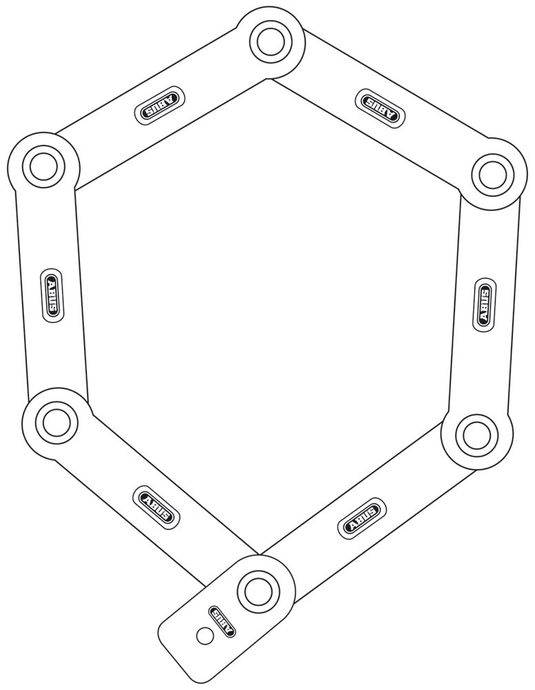 Abus Bordo 6000 TwinSet, keyed alike - Folding Lock - Bike lock, Security level 10 by Abus (Image #3)