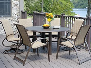 Amazoncom Telescope Casual Primera Sling Dining Set Outdoor - Telescope casual furniture